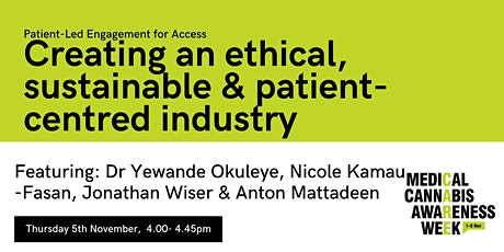 #MCAW2020: Creating an ethical, sustainable & patient-centred industry tickets