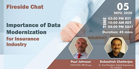 Importance of Data Modernization for Insurance Industry | Fireside Chat tickets