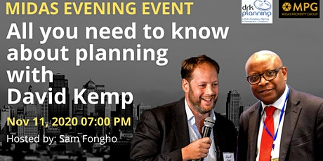 11th November All you need to know about planning with David Kemp 2 tickets
