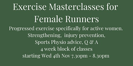 Exercise Masterclass for Female Runners - Progression Course tickets