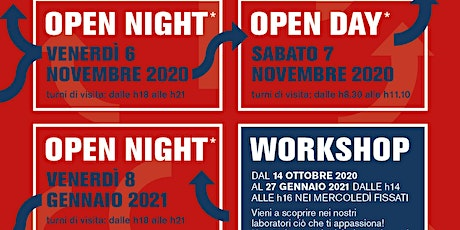 "Open Night/Day 2020/21: Centro di Formazione Professionale CNOS-FAP ""Falck"" tickets"