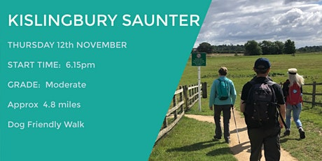 KISLINGBURY SAUNTER | 4.8 MILES | MODERATE | NORTHANTS tickets