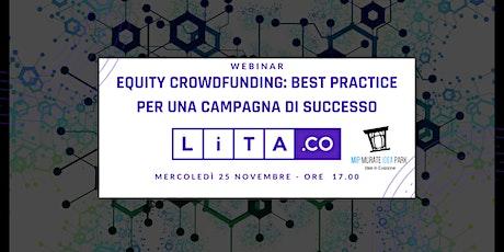 Equity crowdfunding: best practice per una campagna di successo biglietti