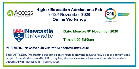 One Awards HE Admissions Fair - Presentation, Q&A by Newcastle University tickets