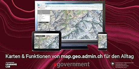 Karten & Funktionen von map.geo.admin.ch für den Alltag Tickets