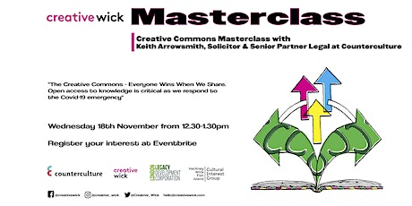 An Introduction to the Creative Commons Masterclass tickets