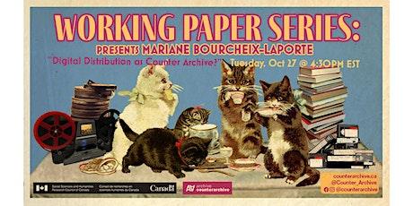 Working Paper Series: Mariane Bourcheix-Laporte | Digital Distribution tickets