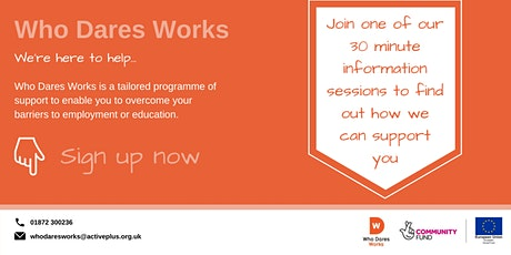 Who Dares Works - Penzance Information session tickets