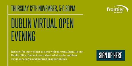 Frontier Economics - Dublin Virtual Open Evening tickets