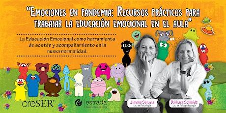 """""""Emociones en pandemia"""" Recursos para trabajar la educación emocional boletos"""
