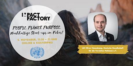People. Planet. Purpose. Nachhaltige Start-ups im Fokus! Tickets