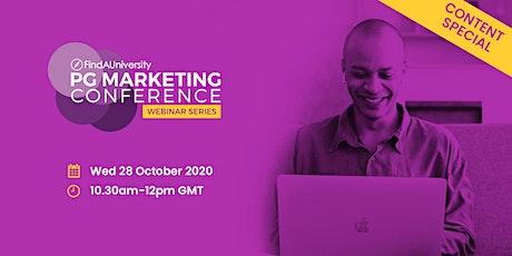 PG Marketing Conference Webinar  - October 2020 tickets
