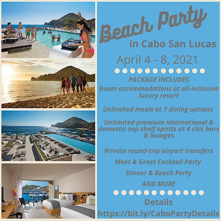 Cabo San Lucus Beach Party  April 4-8, 2021 image