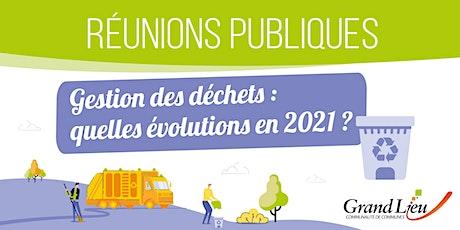 Réunion publique - Gestion des déchets / 30 novembre Pont Saint Martin billets