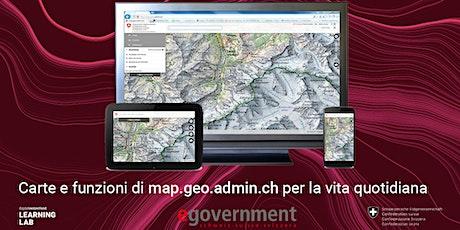 Carte e funzioni di map.geo.admin.ch per la vita quotidiana biglietti