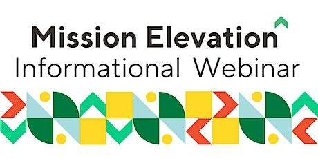 Mission Elevation Program Informational Webinar tickets