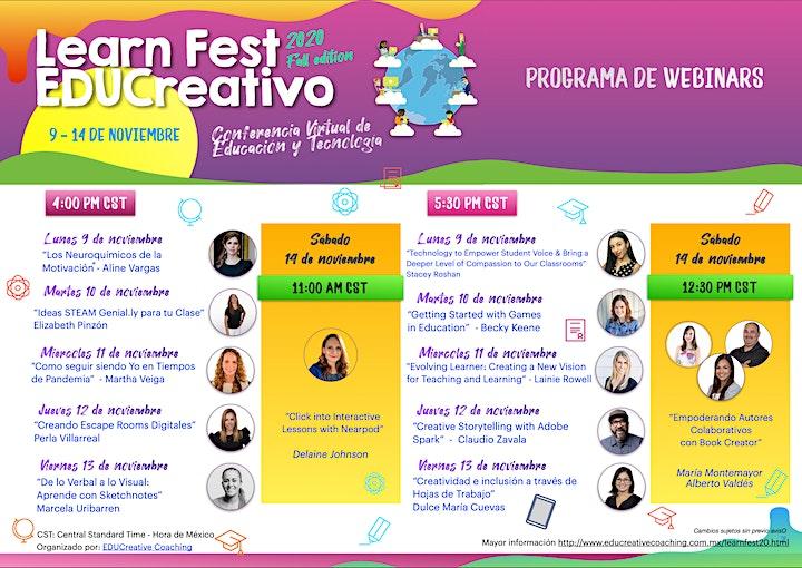 Imagen de Learn Fest EDUCreativo - Fall Edition