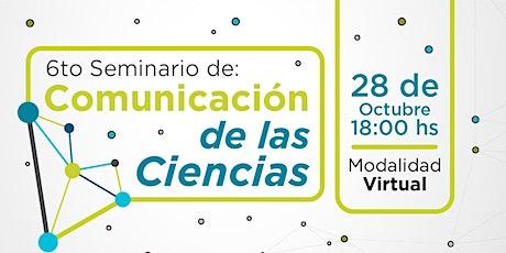 """""""De Mendoza a Júpiter"""". 6° Seminario de Comunicación de las Ciencias. entradas"""