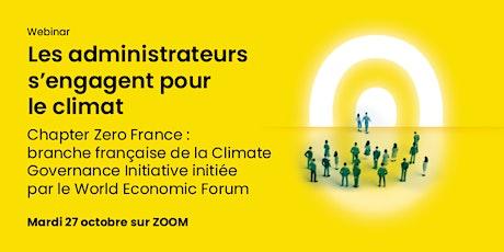 Chapter Zero France: branche française de la Climate Governance Initiative billets
