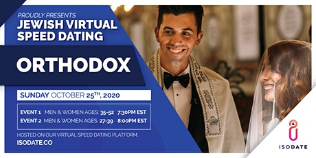 Isodate's Orthodox Jewish Virtual Speed Dating tickets