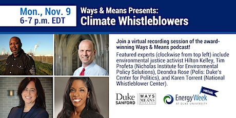"Ways & Means  Presents: ""Climate Whistleblowers,"" a Live Podcast Event tickets"