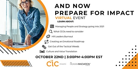 Leadership Discussion Part ll: Now Prepare for Impact! tickets