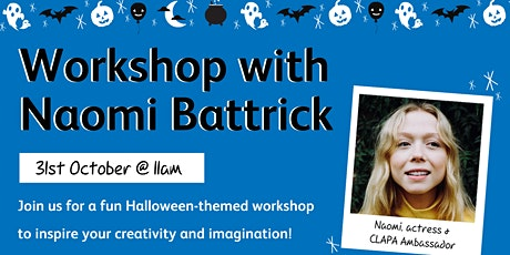Halloween-Themed Creative Workshop With Actress Naomi Battrick tickets