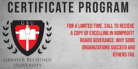 Nonprofit Leadership Certificate Program tickets