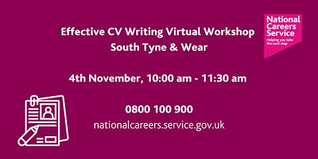 National Careers Service – Effective CV Writing tickets