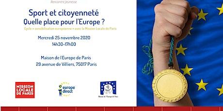 Sport et citoyenneté - Quelle place pour l'europe billets