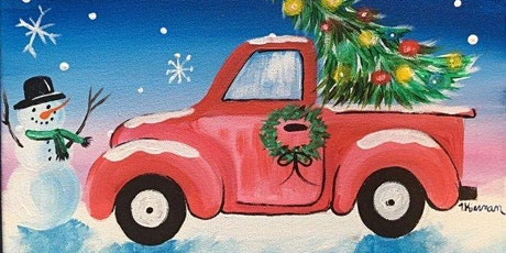 Virtual Paint and Learn Painting On Canvas Art Class  -  Christmas Truck tickets