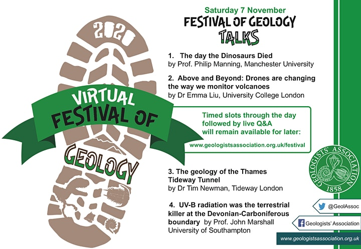Geologists' Association Virtual Festival of Geology and Public Lectures image