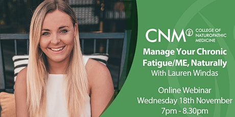 Manage Your Chronic Fatigue/ME, Naturally tickets