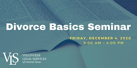 DIVORCE BASICS SEMINAR tickets
