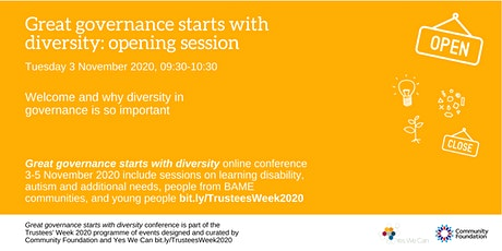 Great governance starts with diversity: conference opening session tickets
