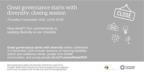 Great governance starts with diversity: conference closing session tickets