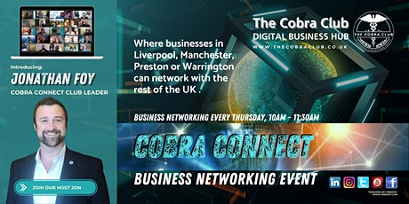 Cobra Connect, Business Networking Event, Liverpool, Warrington, Manchester