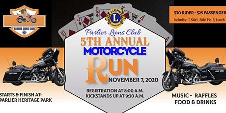 Parlier Lions Club 5th Annual Motorcycle Run tickets
