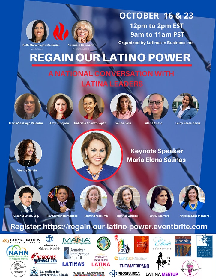 REGAIN OUR LATINO POWER - A NATIONAL CONVERSATION WITH LATINA LEADERS image