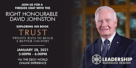 Visionary Speaker Series - Trust with the Rt. Hon. David Johnston tickets