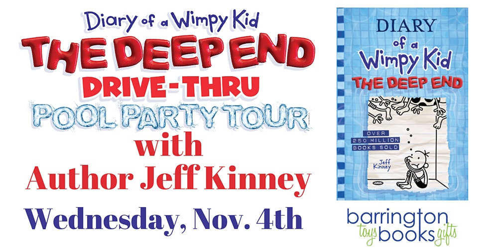 Jeff Kinney Diary Of A Wimpy Kid The Deep End Drive Thru Pool Party Tickets Multiple Dates Eventbrite