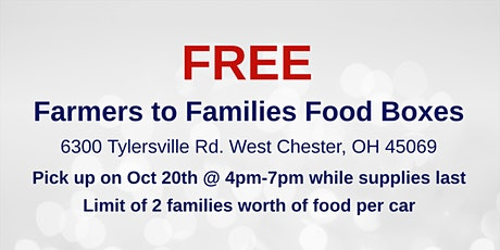 Farmers to Families Food Box Giveaway - Oct 20th tickets