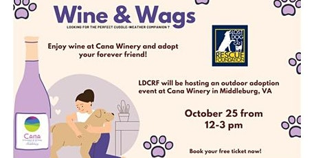 Wine and Wags Dog Adoption Event tickets