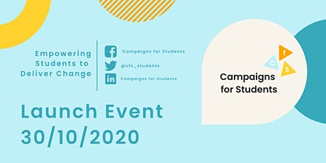 Campaigns for Students - Launch Event tickets