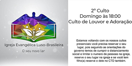 IELB - Culto de louvor  adoração 25.10.2020 às 18:00 - Domingo ingressos