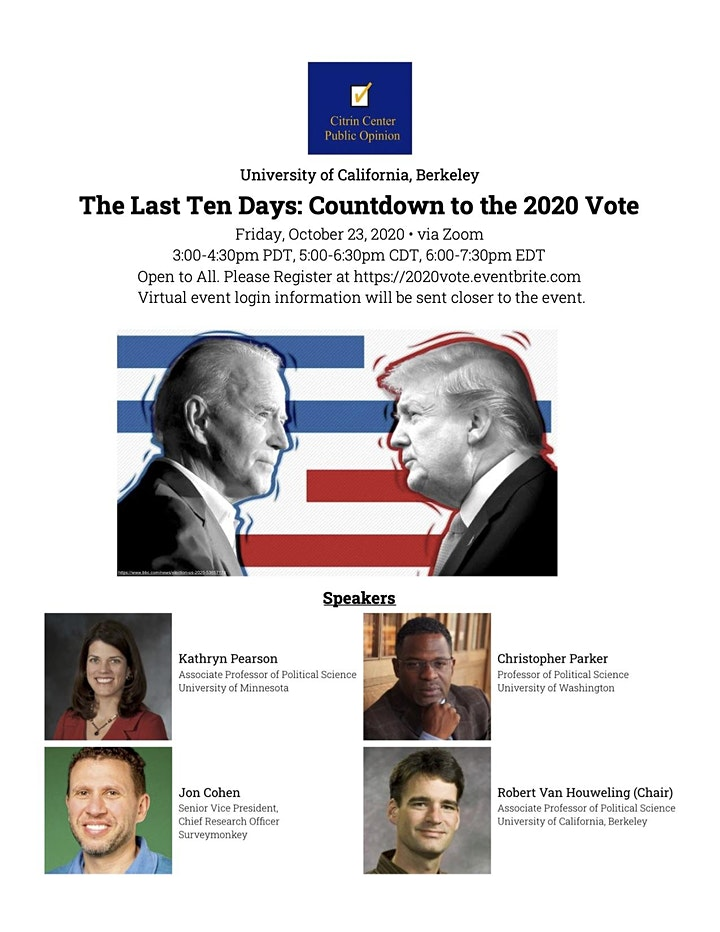 The Last Ten Days: Countdown to the 2020 Vote image