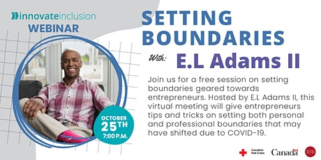 Setting Boundaries with E.L. Adams tickets