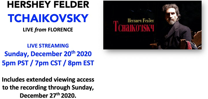 HERSHEY FELDER PRESENTS  - LIVE from FLORENCE:  HOLIDAY PASS image