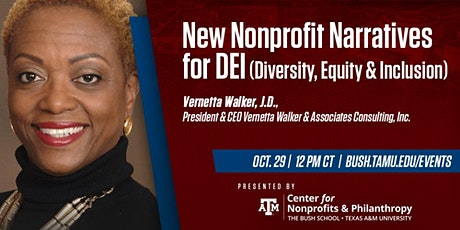 New Nonprofit Narratives for DEI (Diversity, Equity & Inclusion) tickets