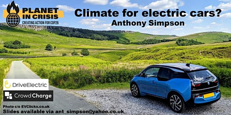 CLIMATE FOR ELECTRIC CARS? tickets